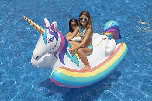 Swimline Vinyl Unicorn Rocker Pool Float, Multicolor