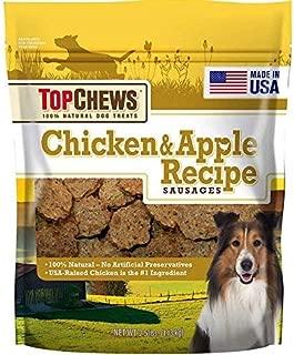 Top Chews Chicken & Apple Recipe 100% Natural Dog Treats and Contain no Artificial preservatives, 2.5 lb. Bag