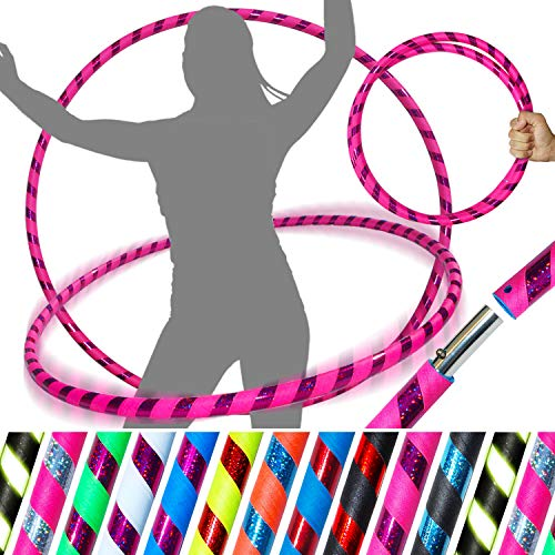 of professional hula hoops PRO Adult Hoops (Ultra-Grip/Glitter Deco) Weighted TRAVEL Dance Hoop (100cm/39') Hoops For Exercise, Dance & Fitness! (640g) NO Instructions Needed - Same Day Dispatch.!