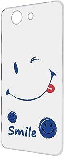 FFANY Xperia A4 SO-04G 用 ハードケース スマホケース [ニコちゃん・白地ブルー] 缶バッチロゴ wink スマイル smile SONY ソニー エクスペリア エースフォー docomo スマホカバー けーたいケース 携...