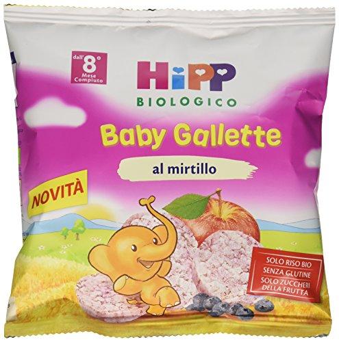 Hipp Baby Snack Gallette di Riso al Mirtillo - 7 confezioni da 30 g