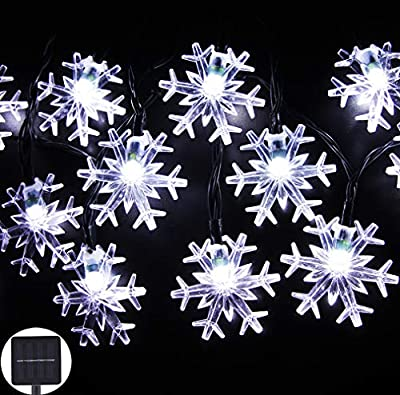 Inngree Solar Outdoor String Lights,20ft 30 LED Water Drop Solar String Fairy Waterproof Lights Christmas Lights Solar Powered String lights for Garden, Patio, Yard, Home, Christmas Tree, Parties
