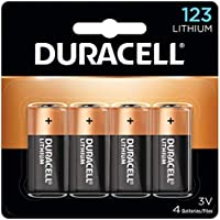 4-Count Duracell 123 High Power Lithium Batteries