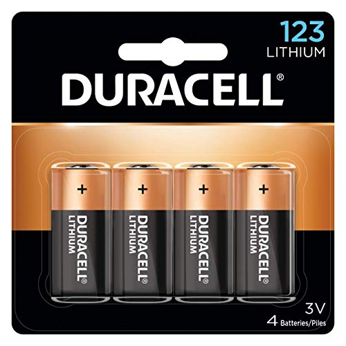 Duracell - 123 3v Lithium Photo Size Battery - Long Lasting Battery - 4 Count