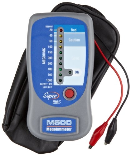 Supco M500 Insulation Tester/Electronic Megohmmeter with Soft Carrying...
