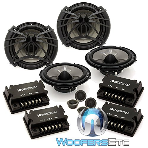 2 Sets AC.6 - Soundstream 6.5' 100W RMS 2-Way Component Speakers System