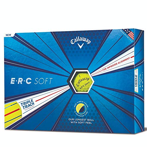 Callaway Golf 2019 ERC Soft Triple Track Golfbälle, Herren, ERC Soft Triple Track 19 Golf Ball, weiß