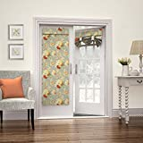 WAVERLY Room Darkening Curtains for French Door - Sanctuary Rose 26' x 68' Thermal Insulated Single Panel Glass Door/Patio Door Window Curtain for Privacy, Clay