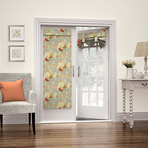 """WAVERLY Room Darkening Curtains for French Door - Sanctuary Rose 26"""" x 68"""" Thermal Insulated Single Panel Glass Door/Patio Door Window Curtain for Privacy, Clay"""