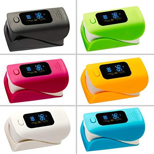 XFC-HE, Pulsoximeter Oximetro De Dedo SPO2 PR Blutsauerstoffsättigung-Monitor Anti-Scratch-OLED FDA CE ISO anzeigen (Farbe : Rose)