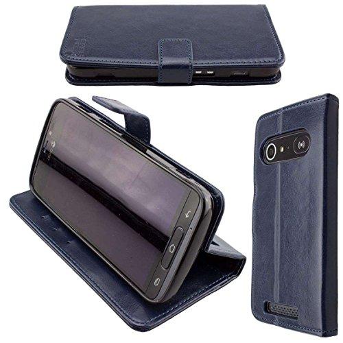 Coque pour Doro 8040/8042, Bookstyle-Case Étui de Protection Antichoc pour Smartphone (Coque de Coloris Bleu)