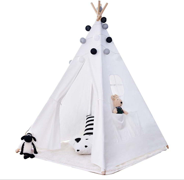 TYUE Tipi-Zelt für Kinder, Canvas-Zelt für Mädchen Indoor Outdoor Kinderzimmer Tipi-Zelt für Mädchen, Princess Canvas Kinder Spielen Zelt für die Innendekoration,Weiß B07NMZ6JC1  Jahresendverkauf