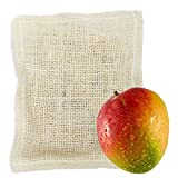 Bolsa de Lufa Natural con Jabón Vegetal de Mango 100 Gramos - Saco de Lufa con Jabón Natural Exfoliante - 100% Vegetal - Fabricación en Proceso de Frío