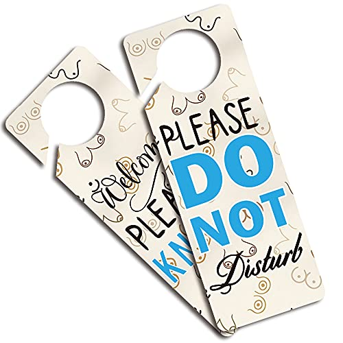 Do Not Disturb Door Hanger Sign 2 Pack(Double Sided) Please Do Not Disturb, Ideal for Using in Any Places Like Offices, Spa Treatment, Law Firms, Clinics, Hotels or During Therapy, Counseling Sessions