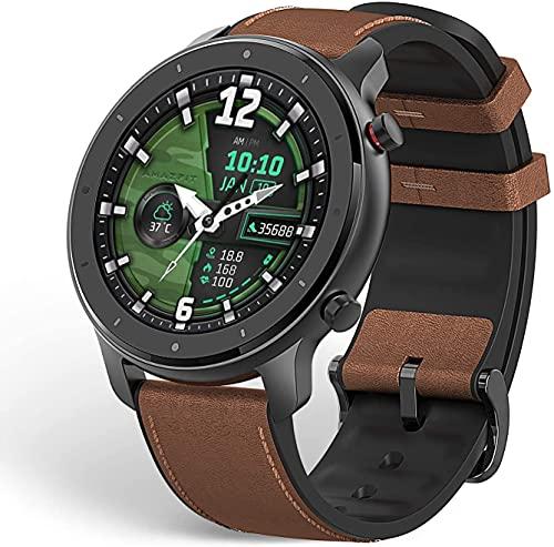 """Amazfit GTR 47 Smartwatch Deportivo Reloj Inteligente AMOLED de 1.39"""" GPS + GLONASS Integrado Frecuencia cardíaca Continua de 24 Horas Larga duración de batería 14 dias 12 Modos Deportes-Aluminium"""