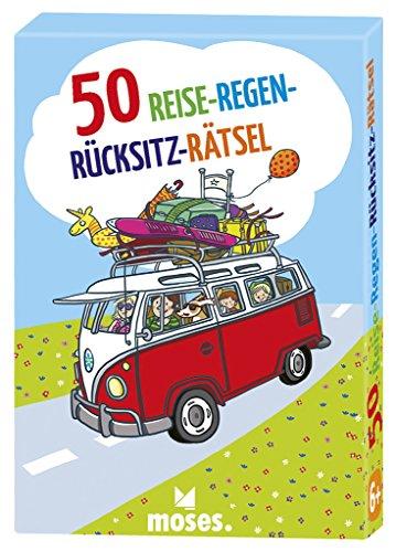 Moses 21123 50 Reise-Regen-Rücksitz-Rätsel | Kinderbeschäftigung | Kartenset