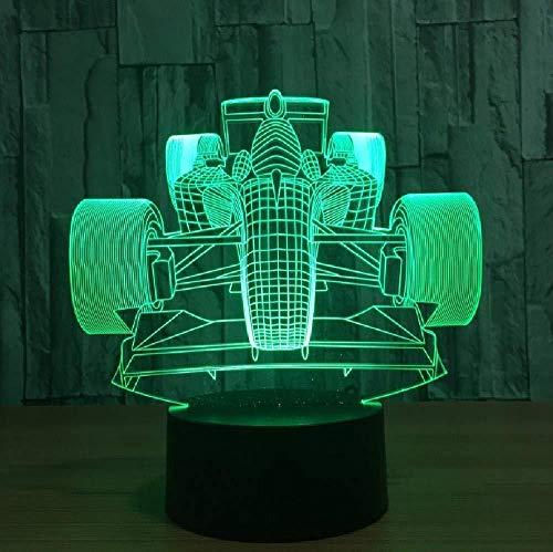 Coche De Carreras Acrílico 3D Led Night Ligh Led Luminaria Usb Mesa Lámpara De Escritorio Amigos Regalos De Vacaciones