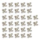 likerainy giunto ad angolo staccabile retto staffa 35x30x27mm bretelle supporto angolari in lega di zinco per connettori di supporti squadretta per mensola di legno tavolo sedia 32 pezzi