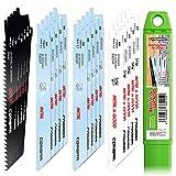 CONBRA® Juego de 20 hojas de sierra de sable para metal, madera y madera con clavos, compatible con Bosch GSA 18V, GSA 18 V-LI C, Bosch Keo, Bosch GSA 1100 E