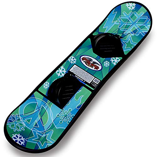 Flexible Flyer Avenger Kids Beginner Snowboard. Youth Plastic Snowboarding Toy Slider, 90 cm, 37 x 8 x 3 inches, Black