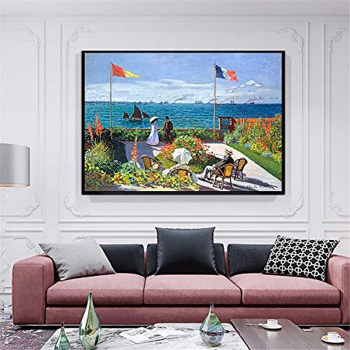 ganlanshu Paisaje de la Calle Paisaje Escena Lienzo Abstracto Pintura al óleo decoración de la Pared del hogar decoración de la Sala de Estar,Pintura sin Marco,45x62cm
