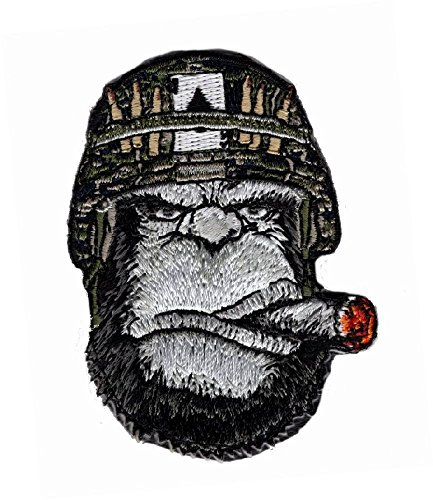 """Ape Victory Cigar Embroidered 3 inch Patch [""""Velcro Brand"""" Fastener]"""