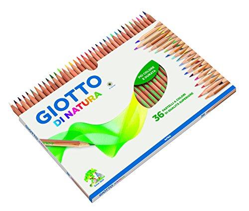 Giotto 240800 - Astuccio di Natura 36 Pastelli Colorati, multicolore