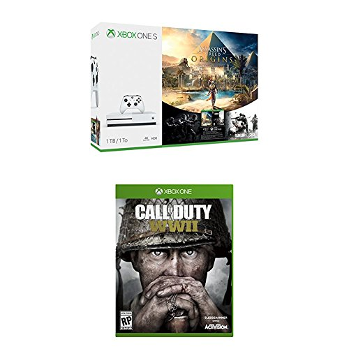 Xbox One S 1TB Assassins Creed Origins Bundle + Call of Duty: WWII