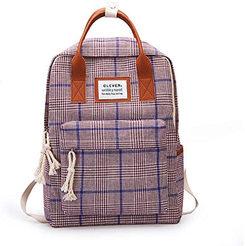 Schoolbag Fsweeth Female students Harajuku wild campus double shoulder backpack,37cm29cm13cm, Purple