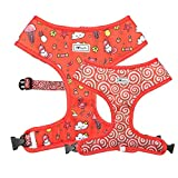 Bulltastic Candy Crush Reversible Dog Harness – Reversible, Comfortable, Adjustable, Easy to Clean – Fits Bulldogs, Pugs, and Other Dog Breeds (XL)