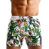 Taddlee Men Swimwear Swimsuits Flower Print Surf Board Boxer Shorts Trunks Long (L,XF83)