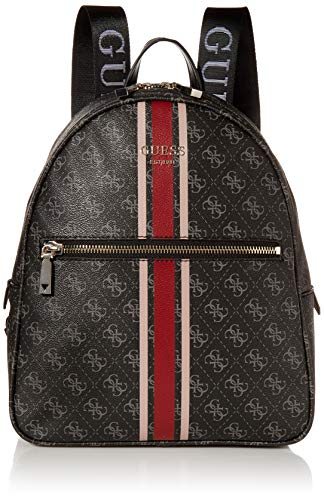 GUESS womens Vikky Backpack, Coal, One Size US