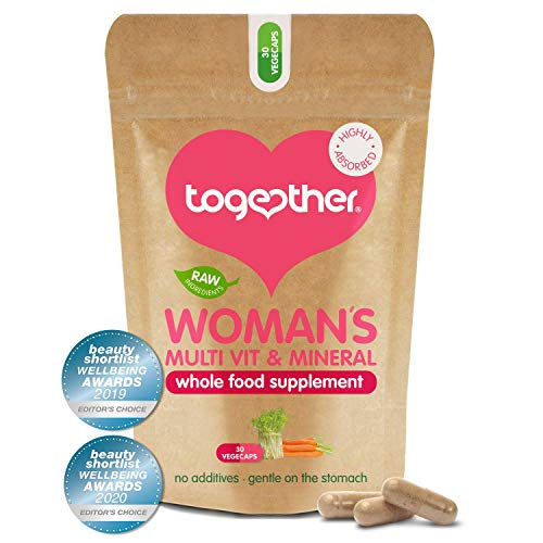 Women's Multi Vitamin & Mineral – Together Health – Specially Formulated for Women – 22 Nature-Based Nutrients – Vegan Friendly – Made in The UK – 30 Vegecaps