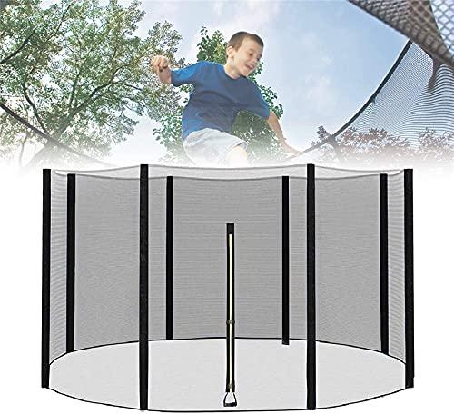 Red de Seguridad de Repuesto para Cama elástica de Exterior trampolín para Ejercicio con Puerta con Cremallera, trampolín para Interiores y Exteriores para niños para Ejercicio