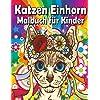 Katzen Einhorn Malbuch fuer Kinder: Huebsche Auswahl an Caticorne-Malvorlagen, Spass zum Entspannen und Anti-Stress !.