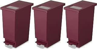 新輝合成 フタ付きゴミ箱 ユニード ゴミ箱 ペダル プッシュ ペール ワイン 3個セット 20L
