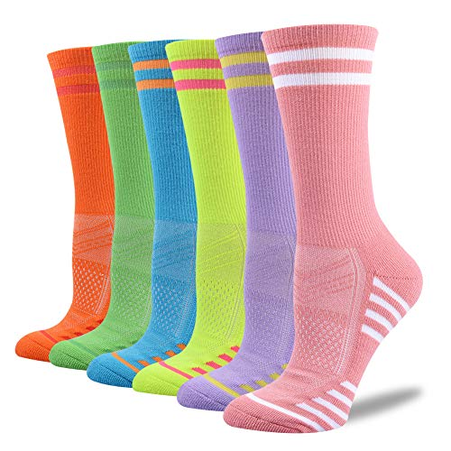 FUNDENCY 6 Pack Women Ankle Athletic Socks Low Cut Breathable Running Tab Socks with Cushion Sole