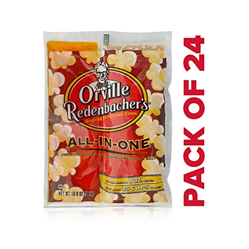 Sale!! Orville Redenbacher's All in One Sunflower Oil Popcorn Kit, 10.6 Ounce Portion Packs (Pack of...
