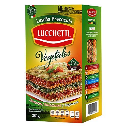 Lucchetti Lasaña Precocida Vegetales, 360 g