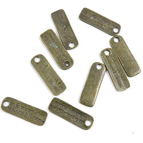 820 piezas de joyería de tono bronce antiguo C08029 Letras Signo Etiqueta Artesanía Artesanía Artesanía Abalorios