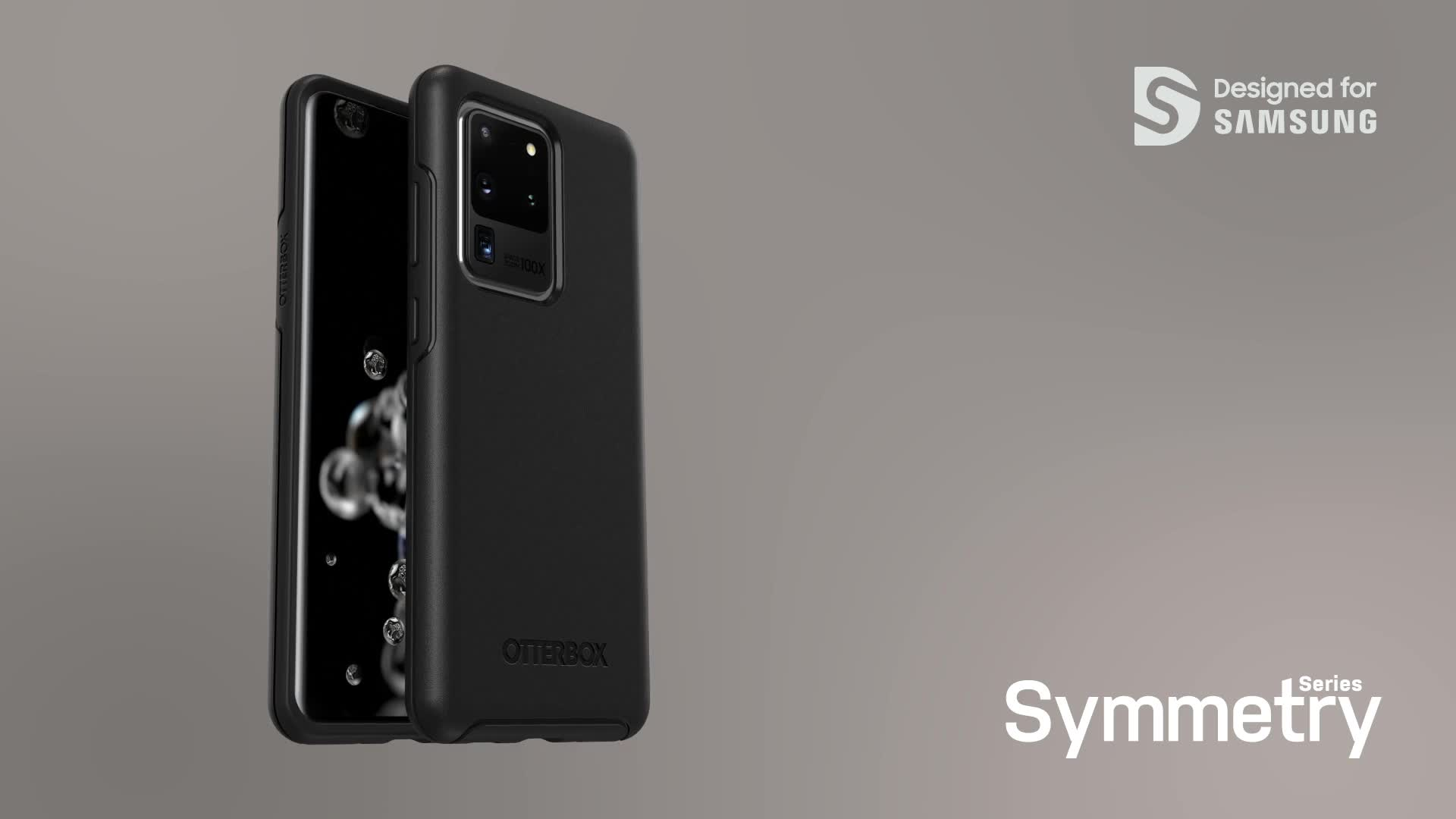 Negra sin Caja Retail Funda Anti-Ca/ídas Fina y Elegante para Samsung Galaxy S20 Ultra Otterbox Symmetry