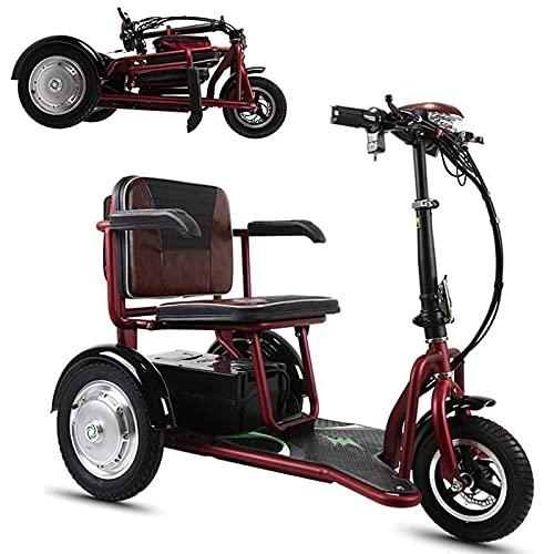 Elektromobil für Senioren, 3-Fach Faltbare, leichte Motorroller für Erwachsene, kompakter Elektrorollstuhl für Freizeitreisen im Freien