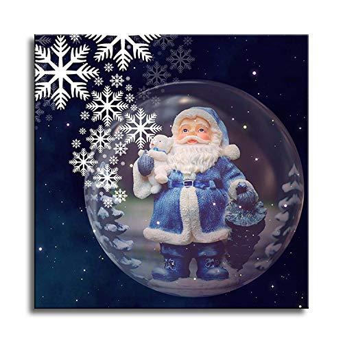 Master 5d supplémentaire perceuse Diamant peintures Maison Mur décoré Croix Strass Kits de broderie DIY Art Craft fabriqués Père Noël - Santa Claus-5-9.8x9.8inch