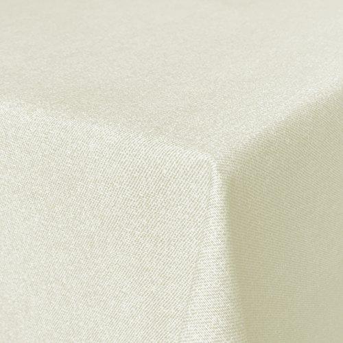 Beschichtete Baumwolle Tischdecke, schmutz- und wasserabweisend, abwaschbar, hellbeige, 180 x 140cm (Größe und Farbe wählbar)
