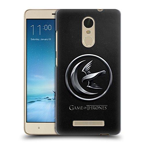 Head Case Designs Licenciado Oficialmente HBO Game of Thrones Plateado Arryn Embossed Sigils Carcasa rígida Compatible con Xiaomi Redmi Note 3 / Pro