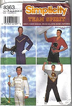 Mens Simplicity Team Spirit Pattern # 8363 for Cheer Squad Drum Major and Band Uniform