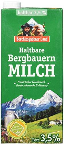 Berchtesgadener Land Haltbare Bergbauern-Milch, 3.5% Fett, 12er Pack (12 x 1 l)