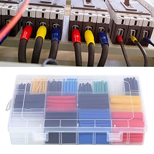 Juego de tubos termorretráctiles de color, mangas de aislamiento de nailon 580 piezas de tubos termorretráctiles Mangas de aislamiento de alambre duraderas para suministros industriales