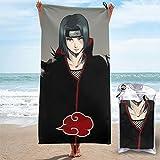 Ranphykx Anime Naruto Uchiha Itachi toalla de secado rápido, ligera, para toallas de baño suaves para piscina, natación, viajes, silla de playa
