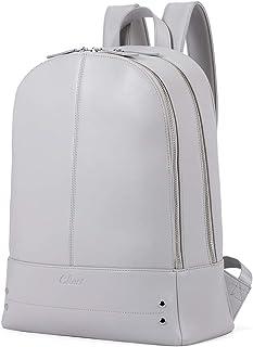 کیف پول کوله پشتی زنانه کیف پول سفر چرمی اصلی سفر مناسب 14 اینچی لپ تاپ خانمهای بزرگ کیف دستی کیف خاکستری
